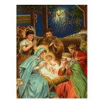 Cartes postales religieuses de nativité vintage