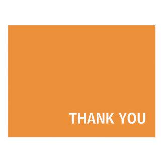 Cartes postales simples oranges de Merci