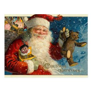 Cartes postales victoriennes de Noël de Père Noël
