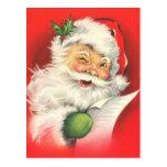 Cartes postales vintages de Noël de Père Noël
