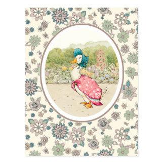 Cartes postales vintages de Pâques de canard