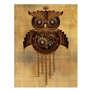 Cartes postales vintages de style de hibou de