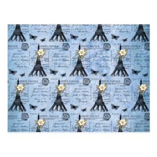 Cartes postales vintages de Tour Eiffel sur le