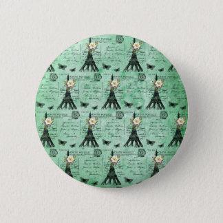 Cartes postales vintages de Tour Eiffel sur le Badge