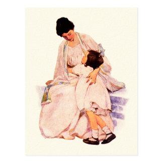 Cartes postales vintages heureuses d'art du jour