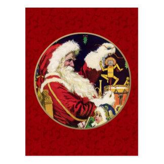 Cartes postales vintages personnalisables de Noël