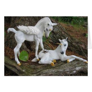 Cartes Poulains de Pegasus et de licorne