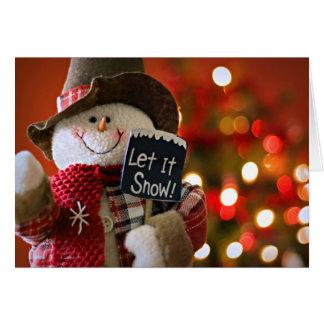 Cartes Poupée de sourire de bonhomme de neige avec un