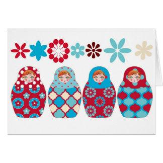 Cartes poupée russe multico