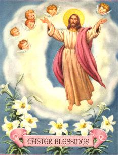 """Pâques Carte /""""Pâques Bénédictions/"""" Christ est ressuscité/"""""""