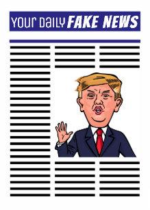 drôle et amusant Trump Cartoon-Papa Donald Trump Pères Jour Carte-Drôle