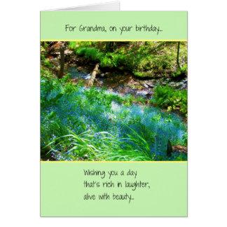 Cartes Pour la grand-maman, sur votre anniversaire