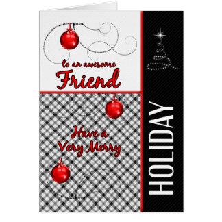 Cartes pour Noël rouge et noir sportif d'ami