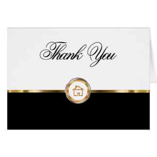 Cartes pour notes chics de Merci d'immobiliers