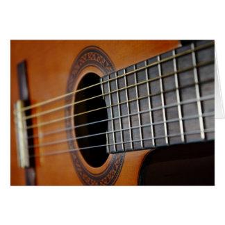 Cartes pour notes de blanc de guitare acoustique p