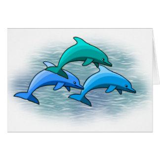 Cartes pour notes de dauphin