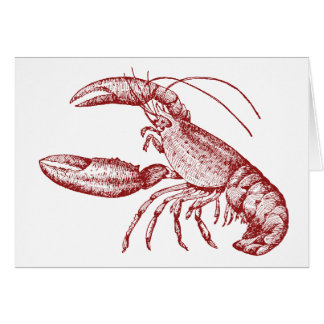 Cartes pour notes de homard