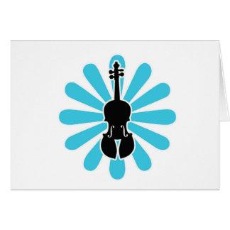 Cartes pour notes de marguerite de violon