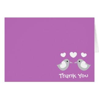 Cartes pour notes de Merci d'inséparables (pourpre