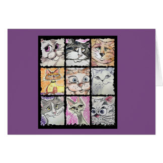 Cartes pour notes fous de chat
