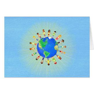 Cartes pour notes lumineux du monde