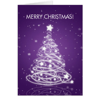 Cartes Pourpre élégant de mod d'arbre de Joyeux Noël