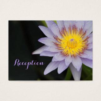 Cartes pourpres de réception de mariage de fleur
