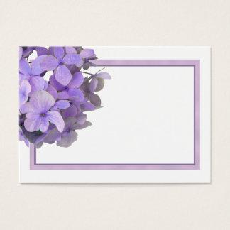 Cartes pourpres d'endroit de blanc d'hortensia de