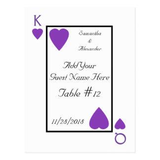 Cartes pourpres d'endroit de Tableau de roi/Reine