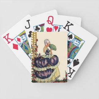 Cartes pourpres victoriennes de Madame jeu Jeux De Poker