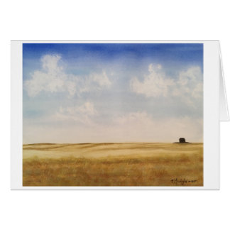 Cartes Prairies occidentales du Canada - AQUARELLE