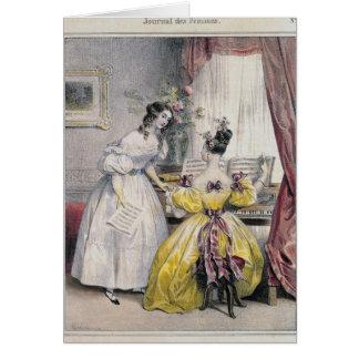 """Cartes Prélude, de """"DES Femmes de journal"""", 1830-48"""
