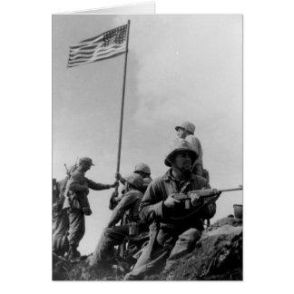 Cartes Premier drapeau d'Iwo Jima augmentant le 23