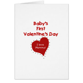 Cartes Premier jour de Valentines du coeur I de maman