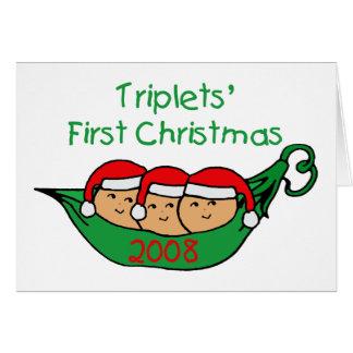 Cartes Premier Noël de triplets - cosse 2008