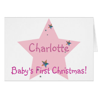 Cartes Premier Noël du bébé ! - Personnaliser