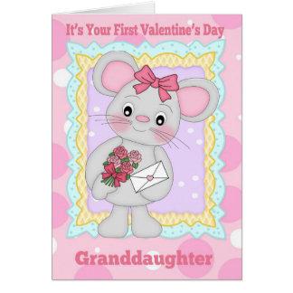 Cartes Première Saint-Valentin de petite-fille avec peu