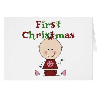 Cartes Premiers T-shirts et cadeaux de Noël de bébé