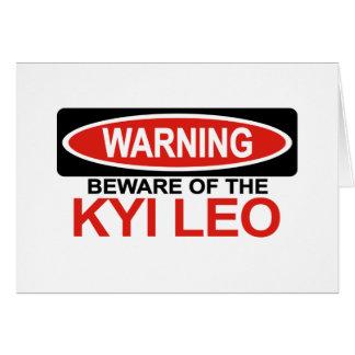 Cartes Prenez garde de Kyi Lion