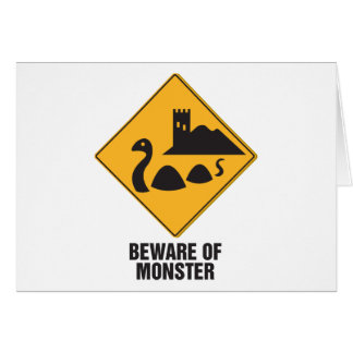 Cartes Prenez garde du monstre de Loch Ness