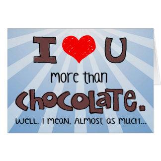 Cartes Presque plus que le chocolat Valentine