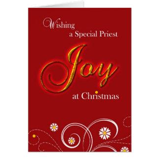 Cartes Prêtre catholique, joie à Noël