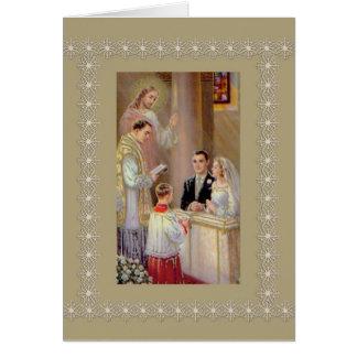 Cartes Prêtre de Jésus de marié de jeune mariée de