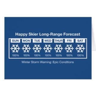 Cartes Prévision heureuse de skieur