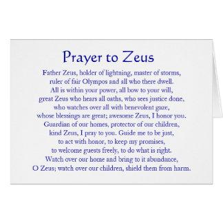 Cartes Prière à Zeus