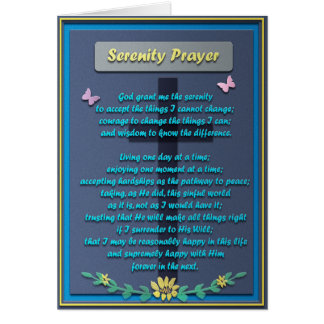 Cartes Prière commémorative de sérénité