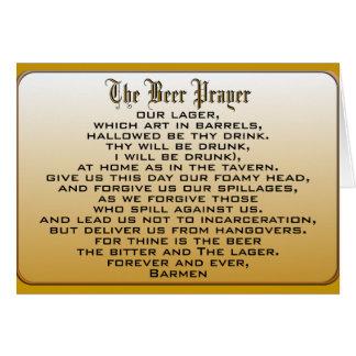 Cartes Prière de bière
