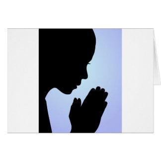 Cartes Prière de fille