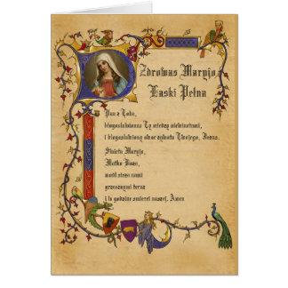 Cartes Prière de Mary de grêle dans le polonais