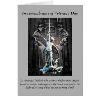 Cartes Prière du jour de vétéran